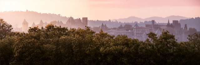 skyline de la cité de Carcassonne