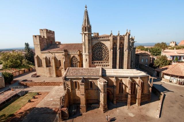 Basilique Saint-Nazaire dans la cité médiévale de Carcassonne