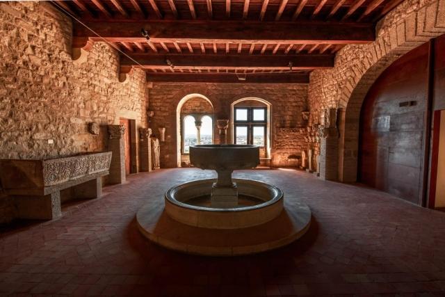 Intérieure du château comtal de la cité médiévale de Carcassonne