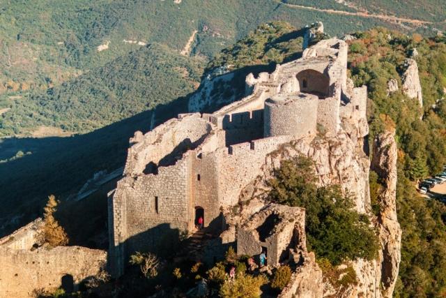 Une vue aérienne du château de Peyrepertuse