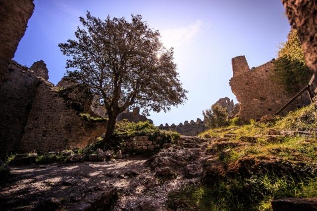 Intérieur du château de Puilaurens