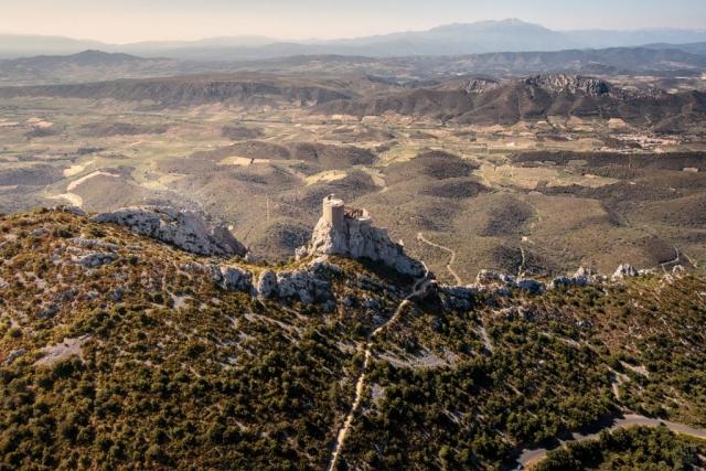 Le site de Quéribus se situe sur la commune de Cucugnan.