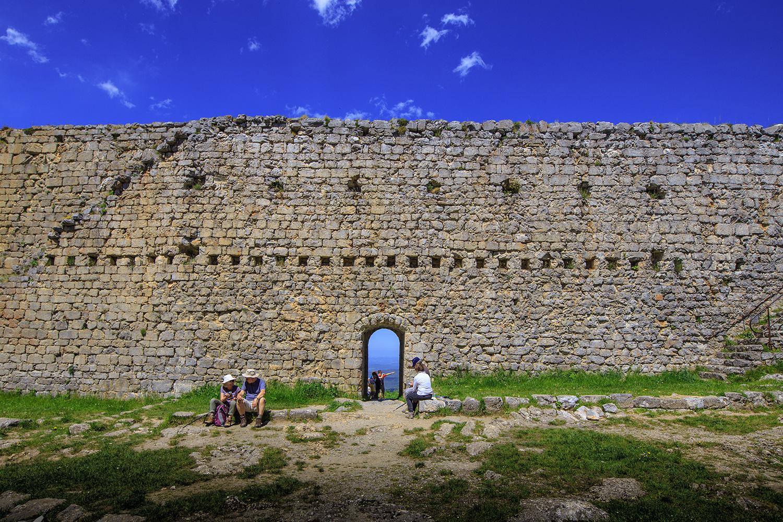 À l'intérieur du château de Montségur