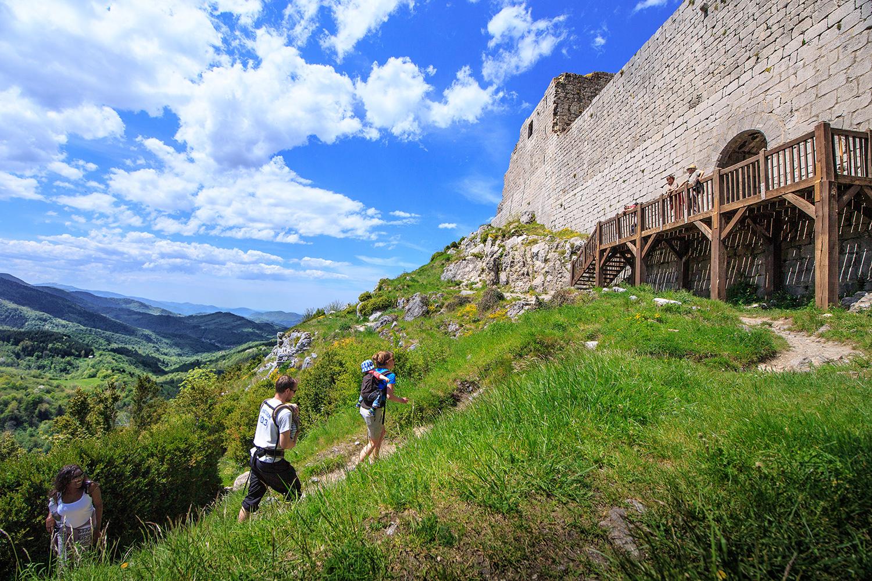 La montée au château de Montségur
