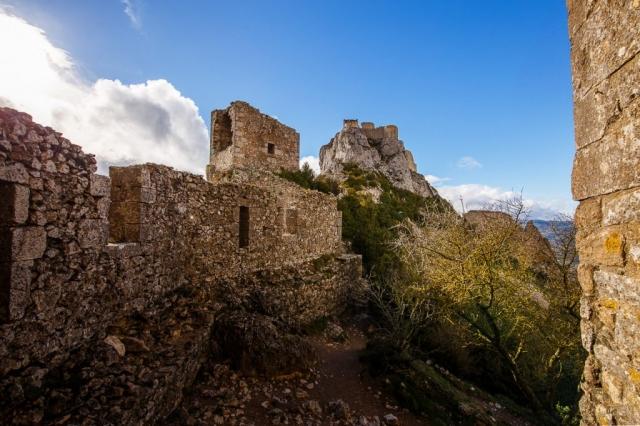Vue du château de Peyrepertuse