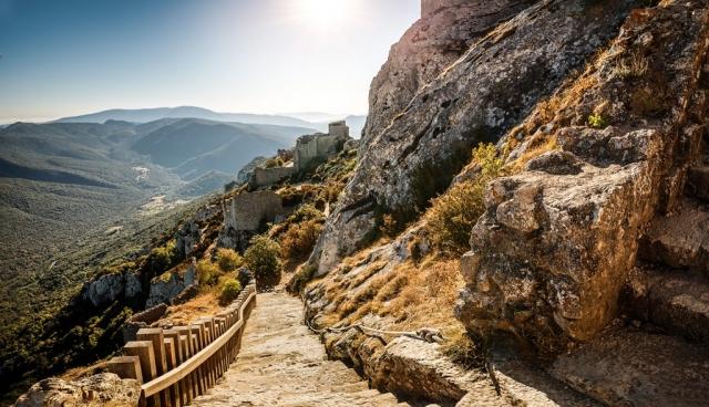 Sur le chemin du château de Peyrepertuse