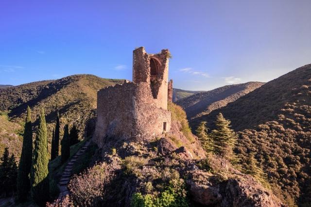 Les châteaux de Lastours dans la commune du même nom