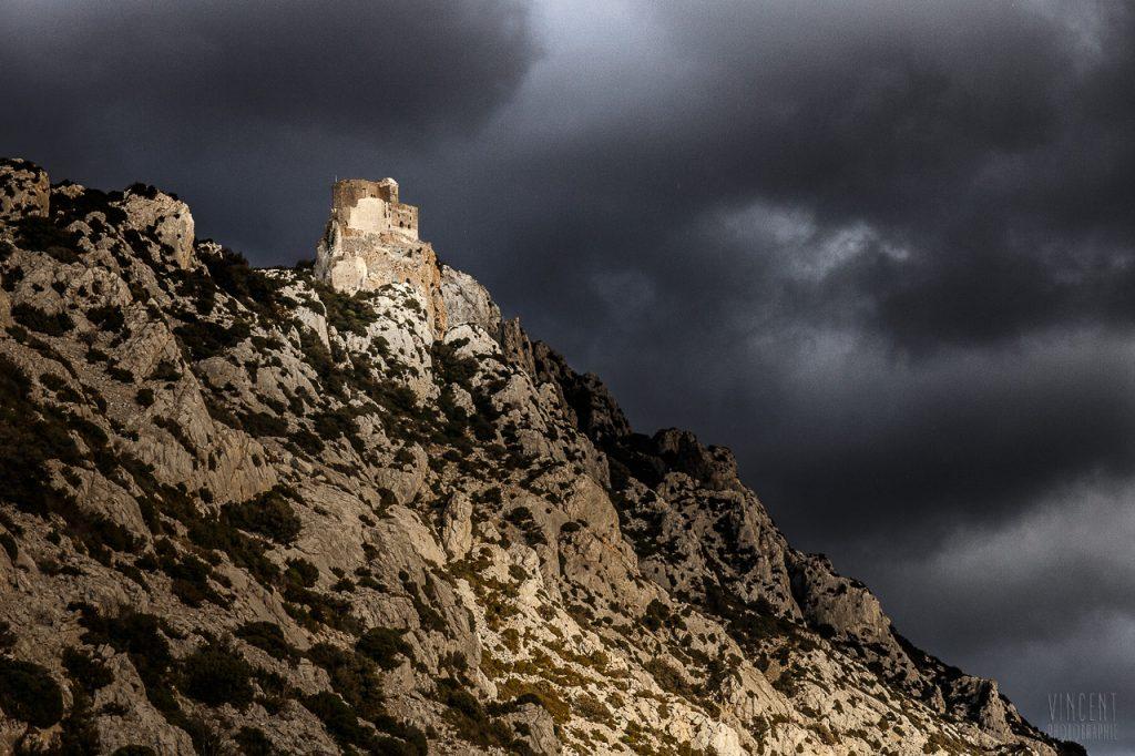 Château de Quéribus sur la commune de Cucugnan